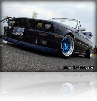 BMW E30 デモカー フロント <京都カスタム・カー・オーディオ オンユーファクトリー>