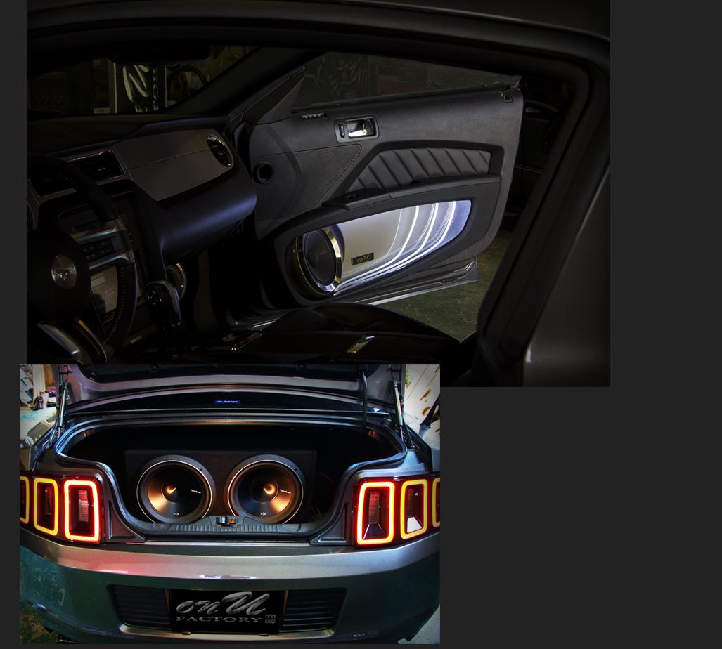 カスタム カー オーディオ オンユーファクトリー フォード マスタング Ford MUSTANG サブウーファー:Rockford Fosgateロックフォード P3D2-12