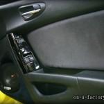 RX-8 ドアスピーカーインストール:6inchミッドバススピーカーバッフル製作(角度付き・こっち向きスピーカー) アルカンターラ仕上げ <京都カスタムオーディオ オンユーファクトリー>