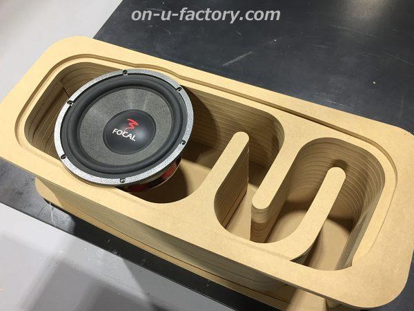 オンユーファクトリー onufactory サブウーファー サブウーハー バスレフ ポート ロックフォード フォーカル カーオーディオ カスタムカーオーディオ BOX 1