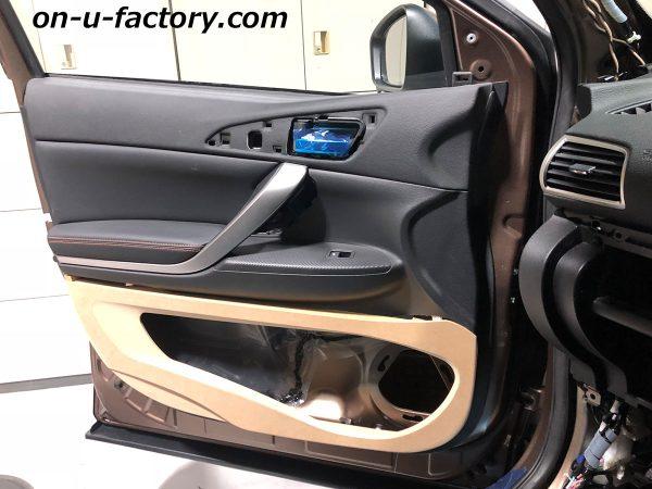 オンユーファクトリー onufactory 三菱エクリプスクロス アウターバッフル スラントバッフル 外枠デザイン