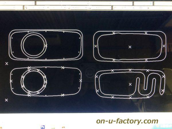 オンユーファクトリー onufactory サブウーファー サブウーハー バスレフ ポート ロックフォード フォーカル カーオーディオ カスタムカーオーディオ CAD図面 1