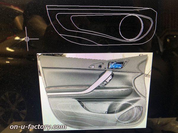 オンユーファクトリー onufactory 三菱エクリプスクロス アウターバッフル スラントバッフル CAD