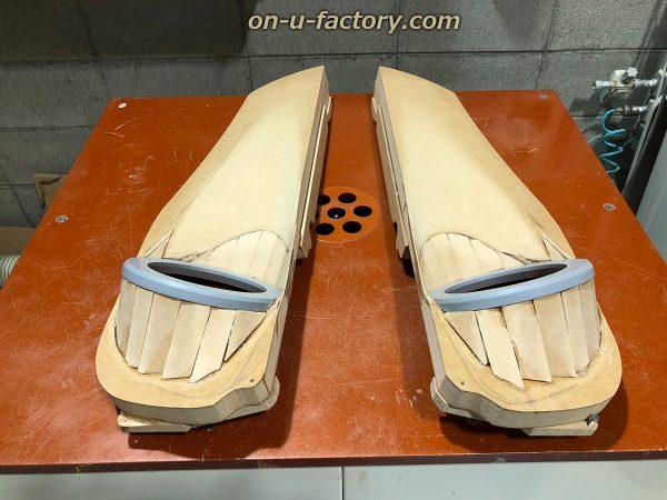 オンユーファクトリー onufactory 三菱エクリプスクロス アウターバッフル スラントバッフル 柱立て