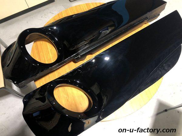 オンユーファクトリー onufactory 三菱エクリプスクロス アウターバッフル スラントバッフル 塗装